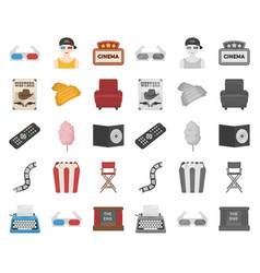films and cinema cartoonmono icons in set vector image