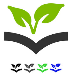 Flora knowledge flat icon vector