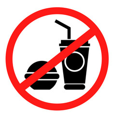 forbidding icon coffee icon with a burger vector image