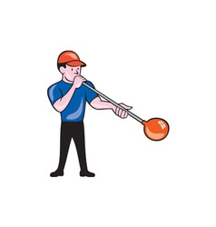 Glassblower Glassblowing Isolated Cartoon vector