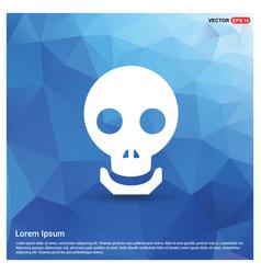halloween skull icon vector image