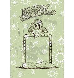 Hand Drawn Santas Panel doodle sketch vector