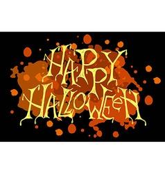Happy Halloween Party Poster vector image