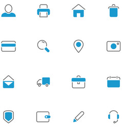 icons set material design vector image