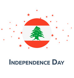 Independence day of lebanon patriotic banner vector