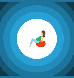 isolated fitness flat icon lady element vector image