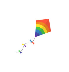 Kite lite in the sky vector