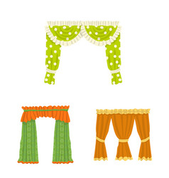 Lambrequin and drapery logo vector
