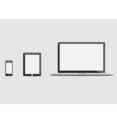 laptop smartphone and tablet mockup vector image