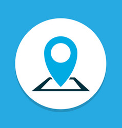 location icon colored symbol premium quality vector image