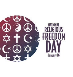 National religious freedom day january vector