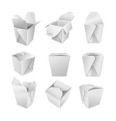 packaging blank paper bags open and close on white vector image