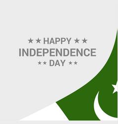 Pakistan independence day typographic design vector