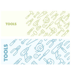 pattern with construction tools icons - tools kit vector image