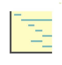 planning or schedule icon design 48x48 pixel vector image
