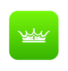 princess crown icon green vector image