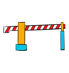 railway barrier icon icon cartoon vector image