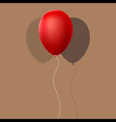 Red Balloon with Shadow vector image