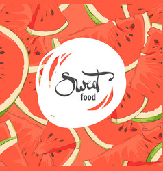 ripe red watermelon slices vector image