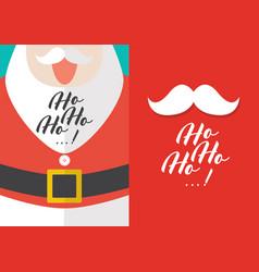 santa claus with ho-ho-ho text greeting cards vector image