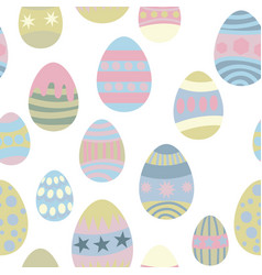 seamless pattern for easter eggs vector image