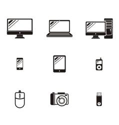 set device icon design flat vector image
