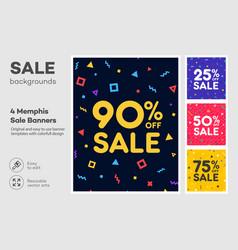 set modern colorful poster banner flyer vector image