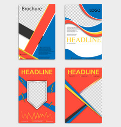 Set of brochure design corporate business vector
