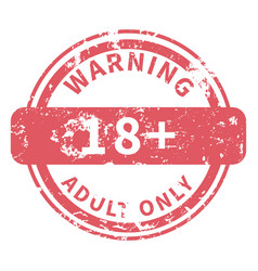 Shabred stamp - warning adult only vector
