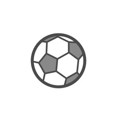 soccer ball flat outline icon vector image