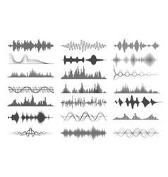 Sound wave charts vector
