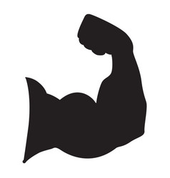 Strong power silhouette of arm muscles vector