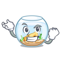 successful fishbowl in glass sphere on mascot vector image