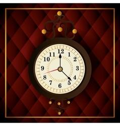 Time clock vintage design vector