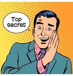 Top secret security business vector