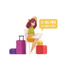 travel cartoon composition vector image