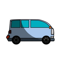 Van transport vehicle vector