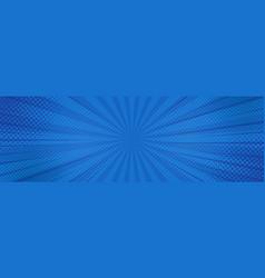 vintage pop art blue background banner vector image