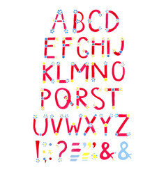 watercolor font hand drawn alphabet watercolor vector image