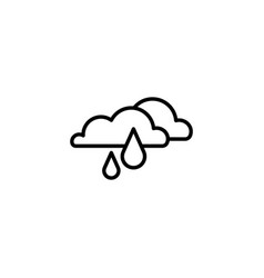 web icon rain clouds black on white background vector image