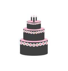 wedding cake graphic design template isolated vector image