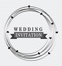 Wedding design vector