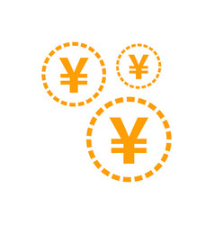Yen yuan money currency icon in flat style yen vector