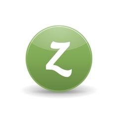 Zerply icon simple style vector image