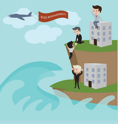 businessman in risk management vector image