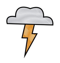 cloud thunderbolt weather storm image vector image