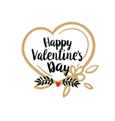 Happy Valentines Day greetings vector image