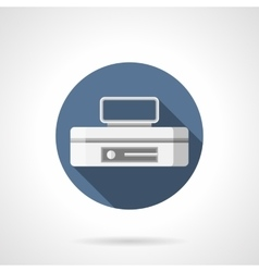 Storing equipment flat color round icon vector image vector image