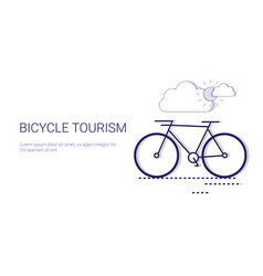 bicycle tourism active travel adventure and vector image