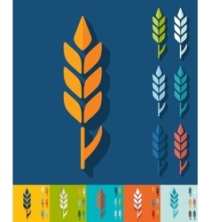 Flat design ear of wheat vector image vector image